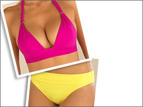 Montage lingerie coloré