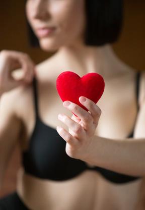 cadeau lingerie avec un coeur