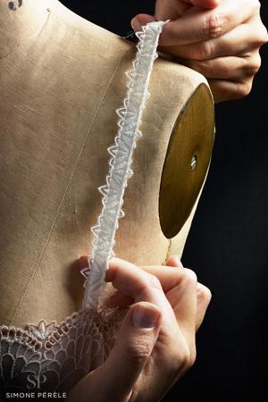 atelier de lingerie simone pérèle détail bretelle icône sur un mannequin stockman