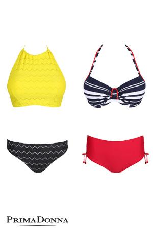 packshot de bikini de collections différentes de la marque prima donna balnéaire maillots séparables tendance été 2018