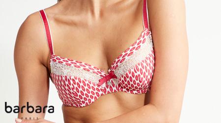 soutien-gorge avec armatures collection kiss en imprimé régressifs lips par la marque Barbara lingerie