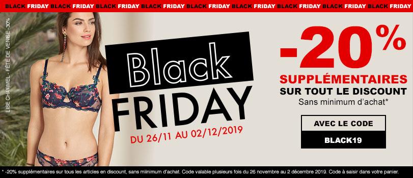 Black Friday 2019 pour de la lingerie
