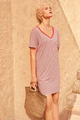 Laura grapefruit-stripe