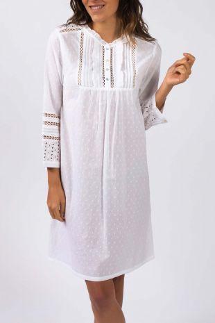 chemise de nuit Romy blanc 01
