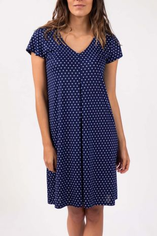 robe de plage Scala marine imprimé 01