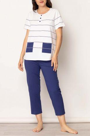 pyjama Lagune blanc rayures 01