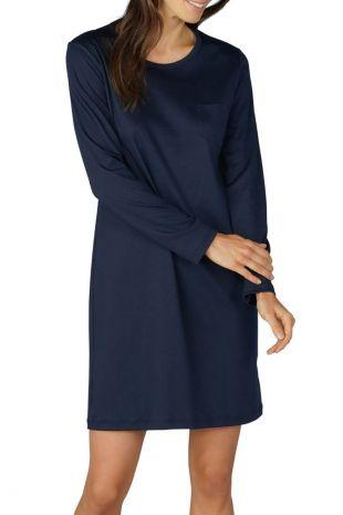 chemise de nuit manches longues Mey Sonja night blue imprimé imprimé 11954 1