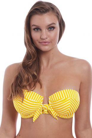 haut de maillot de bain bandeau rembourré bretelles amovibles Freya Beach Hut california  rayures AS6791 1