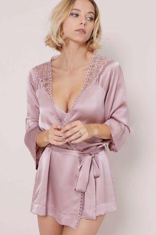 kimono Simone Pérèle Pensée rose taupe rose 16K980 1