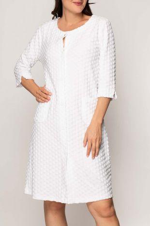 robe de chambre Morning blanc imprimé 01