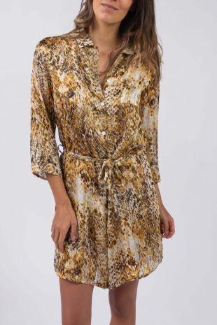 robe de plage Playa Canelle imprimé 01