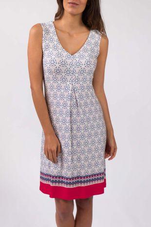 robe de plage sans manches Lima Grenadine imprimé 01