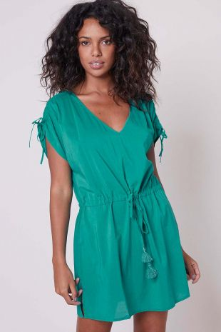 robe tunique de plage Solaire Simone Pérèle Beachwear vert aqua vert 1DBB91 1