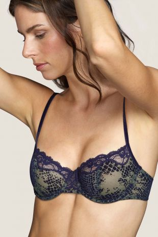 soutien-gorge balconnet couture verticale  Andres Sarda Mamba majestic blue bleu 3309512 1