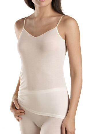 top fines bretelles  Hanro Pure Silk creme peau 071716 1
